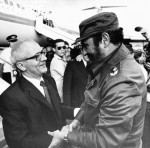 Erich Honecker Arrives in Cuba